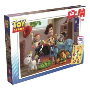 Disney-Toy-Story-Jigsaw-Puzzle-includes-Free-Toy-Story-Stickers-50-Pieces-0