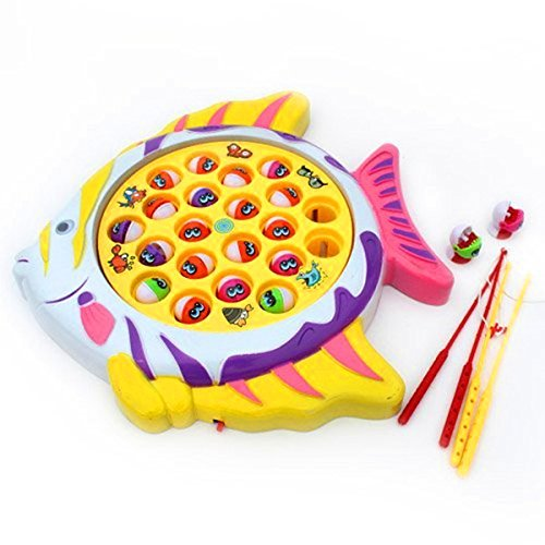 Electronic-Lovely-Fishing-Board-Game-Toy-Set-for-Best-Gift-for-Kids-Boys-Girls-Fish-Shape-Board-with-21-Fishes-4-Fishing-Rods-and-Music-for-Educational-Learning-0