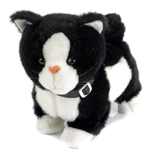 Electronic-Toy-Pet-Black-White-Cat-Jess-Life-like-Movement-Walks-Meows-and-Wags-Her-Tail-and-Head-0