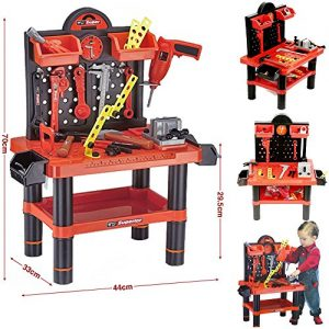 FunkyBuys-Childrens-54pc-Tool-Bench-Playset-Workshop-Tools-Kit-Kids-Toy-Battery-Operated-Electronic-Drill-0