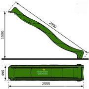 Garden-Games-Childrens-Heavy-Duty-Green-Wavy-Slide-3-metre-for-15-metre-Climbing-Frame-or-Tree-House-Platform-0-3