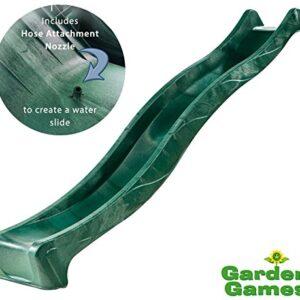 Garden-Games-Childrens-Heavy-Duty-Green-Wavy-Slide-3-metre-for-15-metre-Climbing-Frame-or-Tree-House-Platform-0