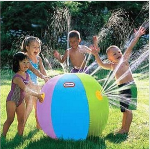 Great-Gift-For-Kids-Inflatable-Water-Fountain-Ball-Streams-Of-Water-From-All-Sides-Watering-Cat-Animal-Pet-Youth-Birthday-Creative-Kiddie-Slide-Tube-Game-Toys-Play-Childrens-Child-Boys-Girls-Outdoor-S-0