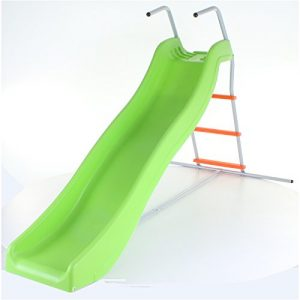 Green-Orange-Crazy-Wavy-Slide-Step-Set-Childrens-Kids-Garden-Play-Area-0