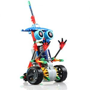 HAHAone-robotics-building-sets-science-toys-for-kids-Assembly-Building-Blocks-Bricks-Robot-DIY-Toy-KitBattery-Motor-Operated-3D-Puzzle-Design-Alien-Primate-Robot-Figure-0