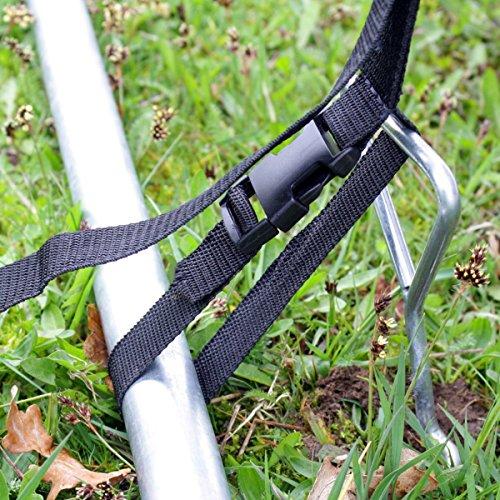 Heavy Duty Galvanized Trampoline Anchor Peg Kit / Tie Down ...