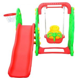 Homcom-Kids-Garden-Playground-3in1-with-Swing-Slide-and-Basketball-Hoop-Multifunctional-Play-Set-0