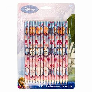 Invero-Original-Disney-Frozen-16x-Pack-of-Princess-Elsa-Anna-and-Olaf-Colouring-Pencils-for-Children-Kids-0
