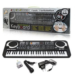 JJOnlineStore-Black-61-Keys-Music-Electronic-Keyboard-Key-Board-Kids-Gift-Electric-Piano-Organ-for-Beginners-with-Microphone-Mic-UK-Plug-0