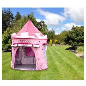 KiddyPlay-Deluxe-Pink-Pop-Up-Castle-Play-Tent-0