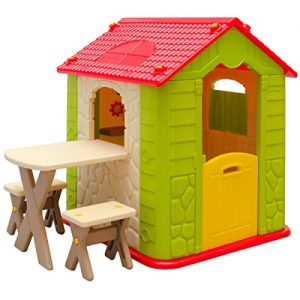 LittleTom-Childrens-Playhouse-1-table-2-benches-for-boys-and-girls-House-made-of-Plastic-for-indoors-and-outdoors-0
