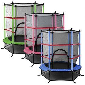 Outdoortips-45FT-Junior-Trampoline-With-Safety-Net-Kids-Toddlers-IndoorOutdoor-Trampolines-0