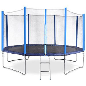 Physionics-Outdoor-Garden-14ft-15-ft-Trampoline-Set-Safety-Net-Frame-Pad-Ladder-Protective-Cover-0