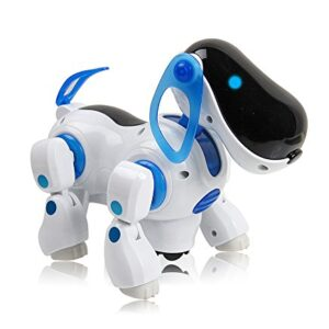 Playtech-Logic-PL200-Childrens-i-Robot-Puppy-Dog-Flashing-Light-Sound-Walks-Runs-Barks-Bump-n-Go-0