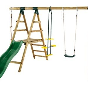Plum-Meerkat-Wooden-Garden-Swing-Set-and-Climbing-Frame-0