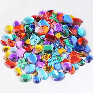 Quality-and-Value-Acrylic-Gemstones-100g-Assorted-Shapes-And-Sizes-Supplied-By-Kids-B-Crafty-0