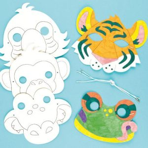 Rainforest-Jungle-Animal-Colour-in-Craft-Masks-for-Children-to-Decorate-Wear-Fancy-Dress-Pack-of-6-0