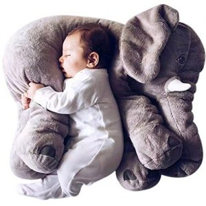 SGS-Baby-Elephant-Stuffed-Plush-Pillows-Grey-24-Inches-0
