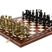 SPARTAN-DECORATIVE-CHESS-SET-42X42-STUNNING-CHESSBOARD-AND-WEIGHTED-PIECES-0-0