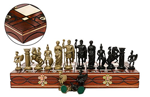 SPARTAN-DECORATIVE-CHESS-SET-42X42-STUNNING-CHESSBOARD-AND-WEIGHTED-PIECES-0