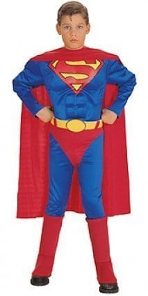 SUPERMAN-Classic-Muscle-Chest-Costume-Childrens-Kids-Fancy-Dress-Medium-0