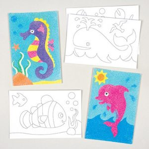 Sea-Life-Animals-Sand-Glitter-Art-Pictures-for-Children-to-Design-Decorate-and-Display-as-Summer-Crafts-Pack-of-8-0