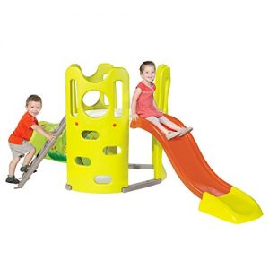 Smoby-Childrens-Kids-Outdoor-Garden-Adventure-Tower-PlaySet-With-Slide-and-Tunnel-0