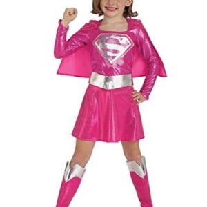 Supergirl-Pink-Childrens-Fancy-Dress-Costume-0