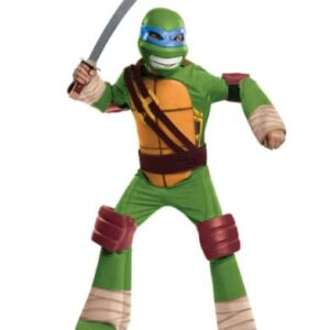 Teenage-Mutant-Ninja-Turtle-Costume-Kids-Leonardo-Outfit-Medium-Age-5-7-HEIGHT-4-2-4-6-0