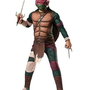 Teenage-Mutant-Ninja-Turtle-Costume-Kids-Raphael-Deluxe-Movie-Outfit-Medium-Age-5-7-years-HEIGHT-4-2-4-6-0