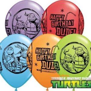 Tennage-Mutant-Ninja-Turtles-Happy-Birthday-11-Qualatex-Latex-Balloons-x-5-0
