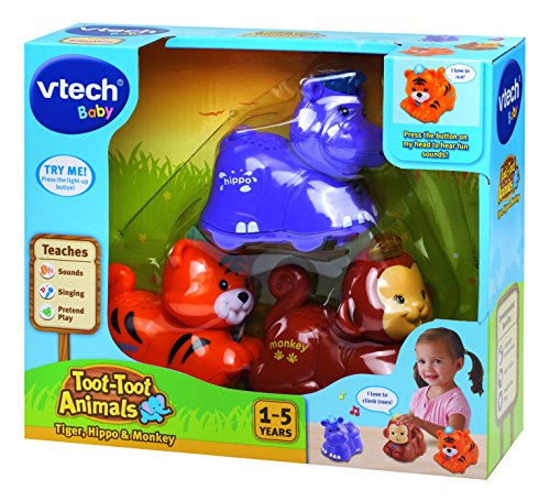 Vtech Baby Toot Toot Animals 3 Pack Tiger Hippo And
