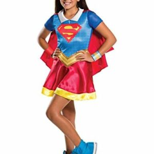 Warner-i-620742l-Super-Girl-Superhero-Classic-Costume-for-Girls-0