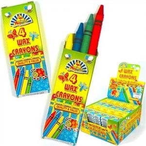 Wax-Crayons-Kids-Party-Bag-Fillers-4-in-pack-10-packs-supplied-0
