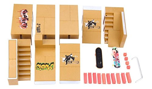 WayIn® 8pcs Skate Park Kit Ramp Parts for Tech Deck Fingerboard Mini Finger  Skateboard Fingerboards Ultimate Parks