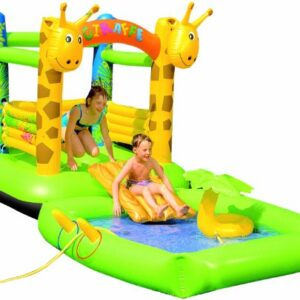 Wehncke-Bouncy-Castle-and-Play-Pool-Set-GreenYellow-0