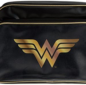 Wonder-Woman-Classic-Logo-Messenger-Bag-Black-0