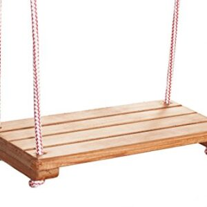 Woodeyland-Garden-Wooden-Swing-Seat-with-Nylon-Ropes-0