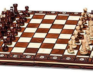 Woodeyland-Hand-Crafted-Wooden-SENATOR-Chess-PROFESSIONAL-Set-40-x-40-cm-0