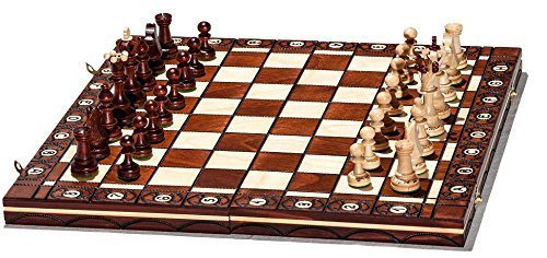Woodeyland-Hand-Crafted-Wooden-SENATOR-Chess-PROFESSIONAL-Set-40-x-40-cm-0