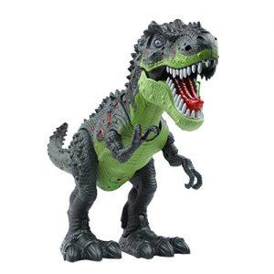 Yier-Electronic-Toys-Green-Walking-Tyrannosaurus-Rex-Dinosaur-0