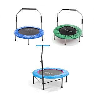 Yoleo-Portable-3843-inch-Multifunction-Mini-Rebounder-Fitness-Trampoline-with-Handle-Bar-Safe-for-Adult-and-Kids-Less-than-100KG-With-2-Free-Backup-Spring-0