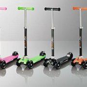 iScoot-Pro-v2-Tilt-Kickboard-Mini-T-Bar-3-Wheel-Kick-Scooter-Bobbi-Board-for-Boys-Girls-Children-Black-0-3