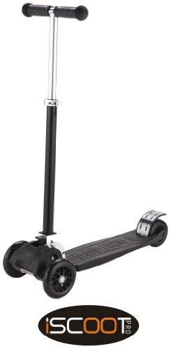 iScoot-Pro-v2-Tilt-Kickboard-Mini-T-Bar-3-Wheel-Kick-Scooter-Bobbi-Board-for-Boys-Girls-Children-Black-0