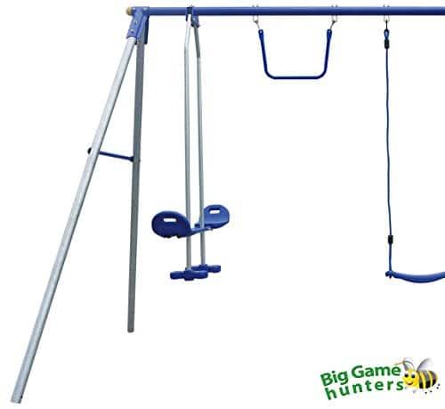 4 unit metal swing frame fits 6 children - Metal Swing Frame