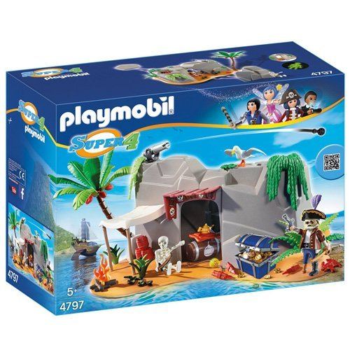 Playmobil-4797-Super-4-Gunpowder-Island-Hideout-0