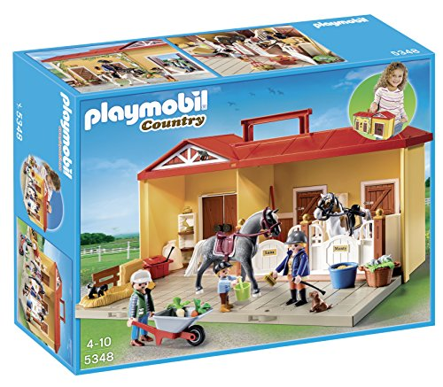 Playmobil-5348-Country-Pony-Farm-Take-Along-Horse-Stable-0