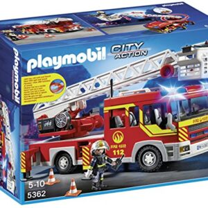 Playmobil-5362-City-Action-Fire-Brigade-Engine-Ladder-Unit-with-Lights-and-Sounds-0