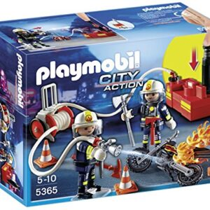 Playmobil-5365-City-Action-Fire-Brigade-Firefighters-with-Water-Pump-0