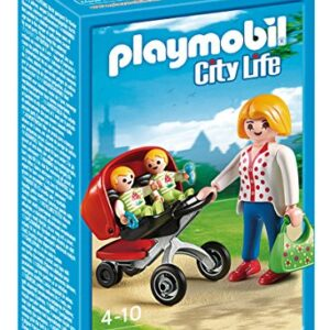 Playmobil-5573-City-Life-Preschool-Mother-with-Twin-Stroller-0
